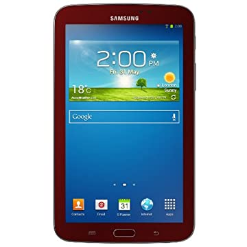 Samsung Galaxy Tab 3 7 8GB Tablet Bundle with Case (Garnet Red)