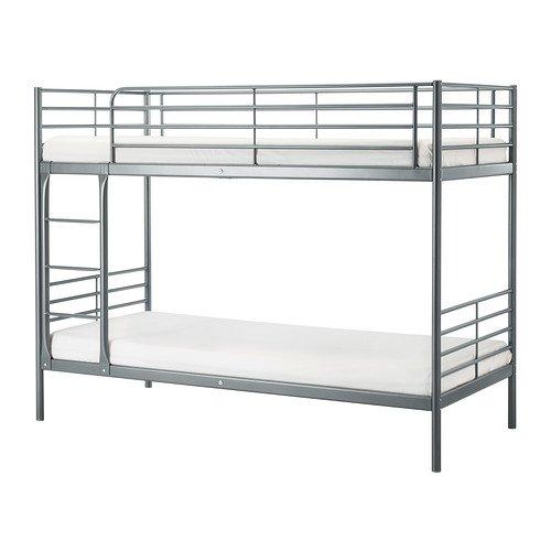 IKEA(イケア) SVARTA 2段ベッドフレーム シルバーカラー