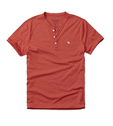 abercrombie-fitch-by-hollister-mens-solid-t-shirt-henley-x-large-light-red