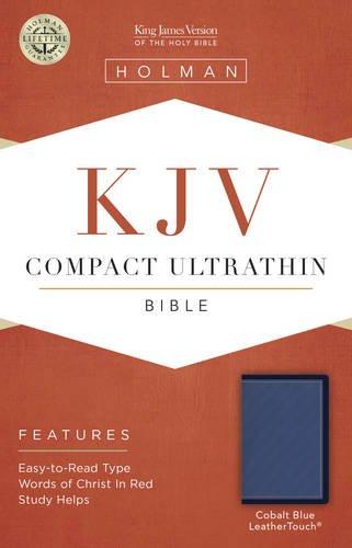 KJV Compact Ultrathin Bible, Cobalt Blue LeatherTouch