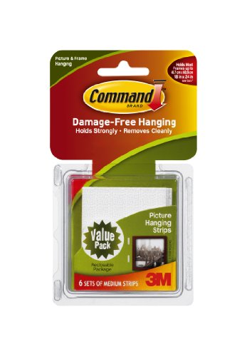 Command Medium Picture-Hanging Strips, 6-Picture front-370714