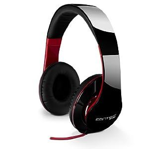 FANTEC SHP-250AJ Stereo Kopfhörer mit Bügel, on Ear, 3,5 mm Klinkestecker, schwarz/rot