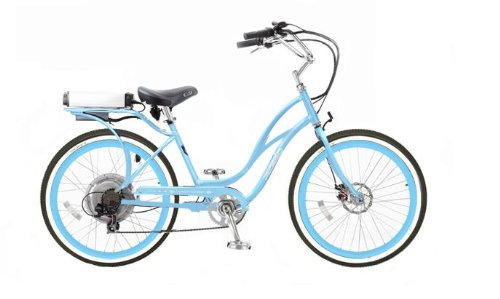 Pedego Step-Through Cruiser Blue with Blue Rims Tire/Seat Package: Standard