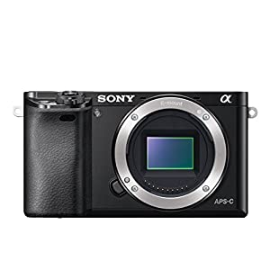 Sony A6000 Interchangeable Lens Digital Camera Body Only - Black (24.3MP)
