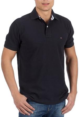 Tommy Hilfiger Regular Navy Polo Shirt - Medium