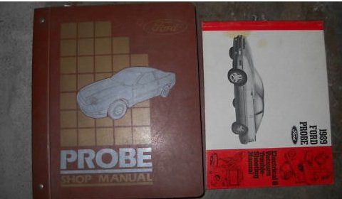1989 Ford Probe Service Shop Repair Manual Set 89 Oem (Service Manual,And The Electrical And Vacuum Troubleshooting Manual.) front-24687