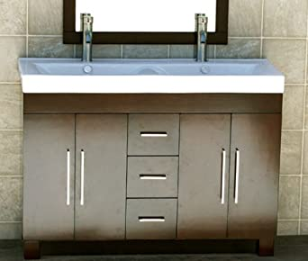 48 bathroom vanity ceramic lavatory top. Black Bedroom Furniture Sets. Home Design Ideas