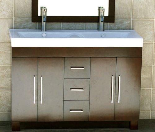 "48"" Bathroom Vanity Cabinet Ceramic Top Sink Faucet Cm1"