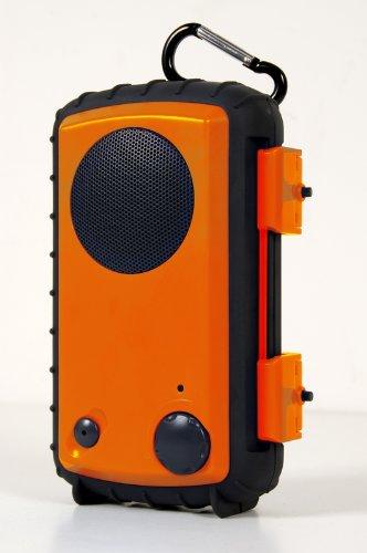 Eco Extreme 3.5Mm Aux Waterproof Portable Speaker Case (Orange)