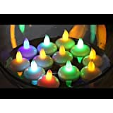 FunRobbers LED Floating Multi Colour Changing Tea Light Candle Diya- Pack Of 5