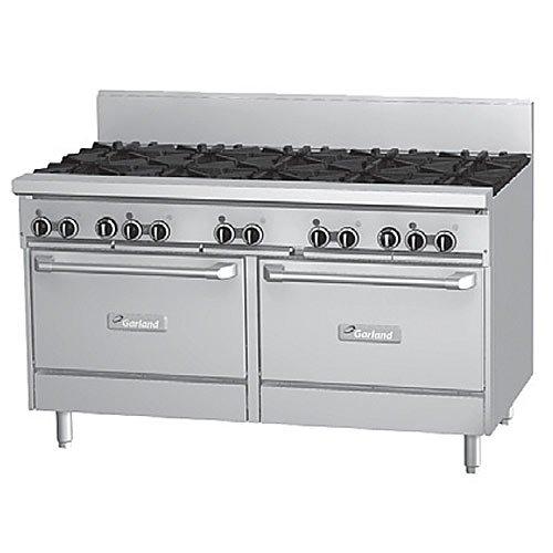 """Garland Gf60-10Rr Starfire Pro 60"""" Gas Restaurant Range - 10 Burner W/ 2 Ovens"""