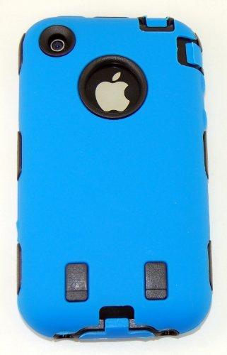 Imagen de Body Armor para iPhone 3G / 3GS - Azul y Negro