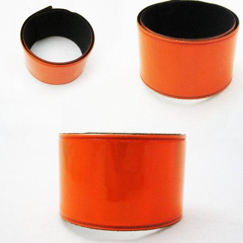 2 Reflective Bands Leg Arm Strap Bike Bicycle Safety Pant Belt Dog Glow Orange ! front-647179