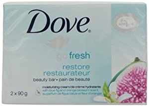 Dove beauty bar, go fresh Restore 2 Count 90g
