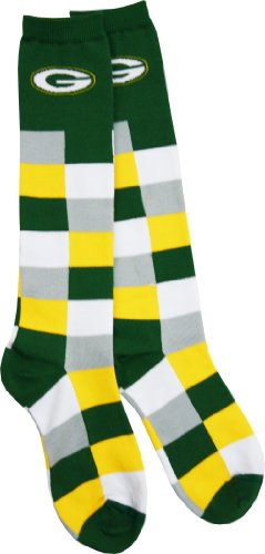 Green Bay Packers Women's Color Blocks Socks at Amazon.com