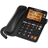 AT&T Corded Phone with 25 min Digital Answering Machine, Backlit Tilt Display, Audio Assist, Speakerphone (CL4940BK)