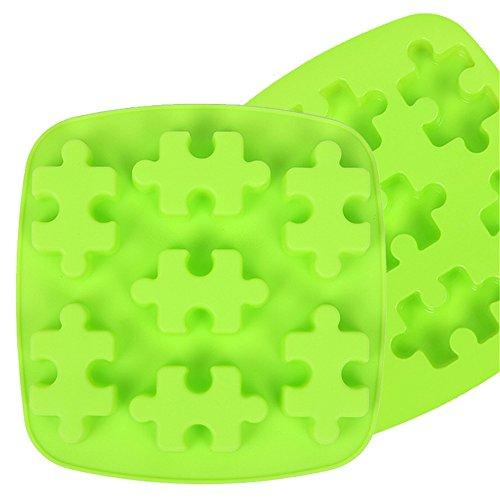 SinCook Moule en silicone en forme de puzzle - Idéal pour faire des bonbons/des gâteaux au chocolat/des glaces/des gelées/du pudding