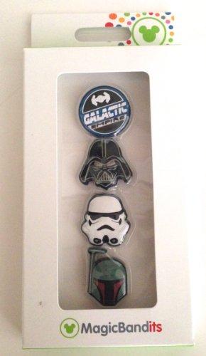 Disney Parks Star Wars Magic Band Bandits Set of 4 Charms Vader Boba Fett