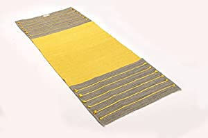 Vastra Ayurvedic Yoga Mat---Organic, Chemical-free, Handmade from Cotton & Jute- Dyed with plants/herbs from Ayurveda , All- Natural, Health-Conscious ,Travel-Friendly
