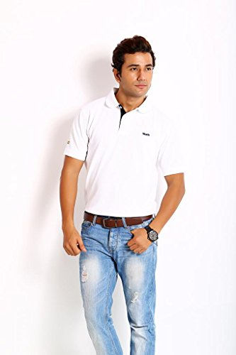 Classic Skatti Premium Pique White Classic Fit Polo (Beige\/Sand\/Tan)