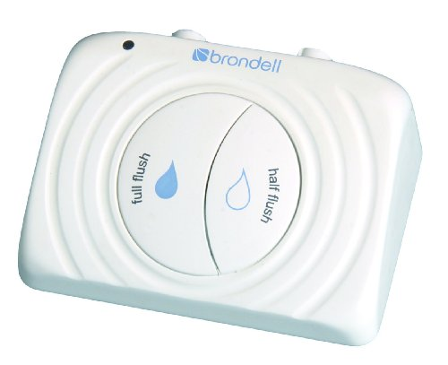 Brondell PF100-W Simple Flush, Eco-Friendly Dual Flush Toilet Retrofit Kit