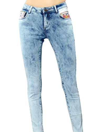 Elf Sack Womens Autumn Jeans Wear White Washed Into Color Pocket Medium Size