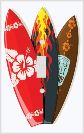 Surf Time Decorative Switchplate Cover front-1039370