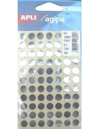 agipa-markierungpunkte-rund-selbstklebend-silber