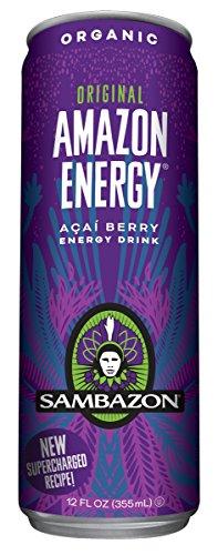 Sambazon Amazon Energy Drink, Original Acai Berry, 12 Ounce (Pack of 24)