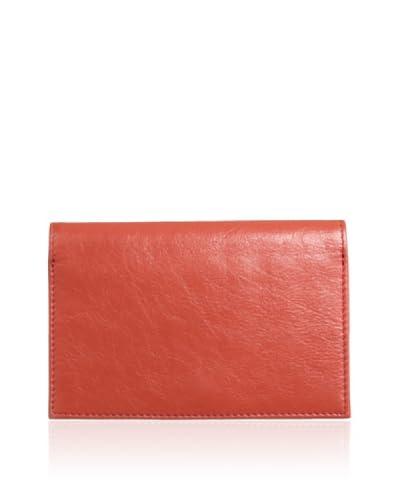 Latico Women's Miles Passport Style Wallet, Poppy