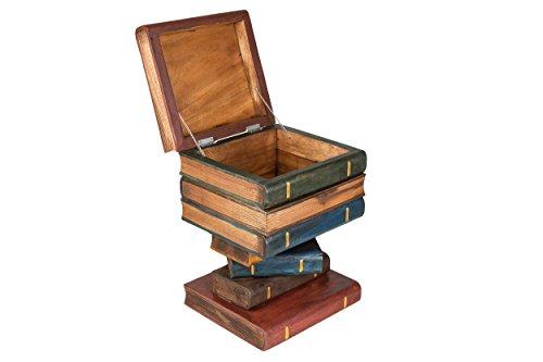Buchstapel-HockerNachttischBeistelltisch-mit-Kiste-ca-50cm