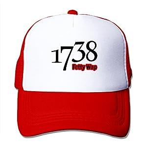 Adult Fetty Wap 1738 Adjustable Mesh Hat Trucker Baseball Cap Red