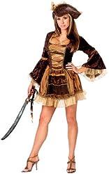 FunWorld Women's Sassy Victorian Pirate Costume
