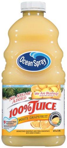 Ocean Spray No Sugar Added White Grapefruit 100% Juice 64 oz