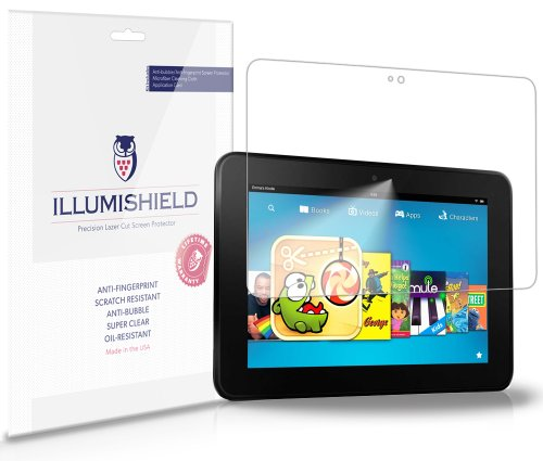 Illumishield - Amazon Kindle Fire Hd 8.9 Screen Protector Japanese Ultra Clear Hd Film With Anti-Bubble And Anti-Fingerprint - High Quality (Invisible) Lcd Shield - Lifetime Replacement Warranty - [2-Pack] Oem / Retail Packaging