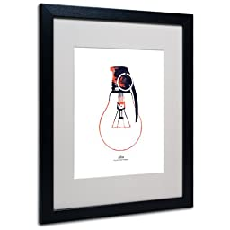 Trademark Fine Art Idea is a Powerful Weapon by Budi Satria Kwan Matted Framed Art with Black Frame, 16 by 20-Inch
