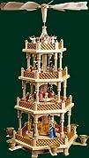 3 Tier German Nativity Christmas Pyramid