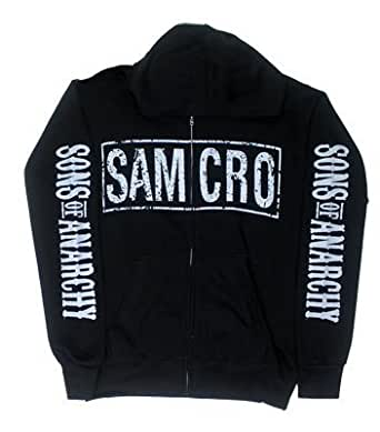 Sons Of Anarchy Boxed Samcro 4 Print SOA Officially Licensed Adult Zip UP Hoodie S