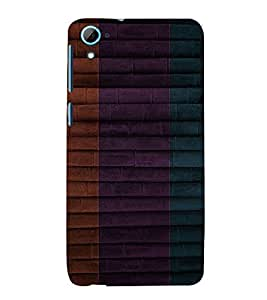 Three colour Stick Background 3D Hard Polycarbonate Designer Back Case Cover for HTC Desire 826 Dual Sim