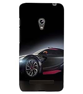 PRINTSWAG RED BLACK CAR Designer Back Cover Case for ASUS ZENFONE 5 A501CG