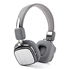 buy Generic Audio Bluetooth Headphones With Mic Noise Cancelling Bluetooth Made For Iphone 6S, 6, 6 Plus More Smartphones And Tablets With Latest Csr 4.0 Version(Grey)