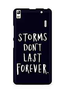 AMEZ storms dont last forever Back Cover For Lenovo K3 Note