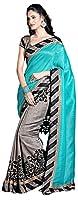 Lizel Fashion Women's Cotton Saree (11000_Grey)