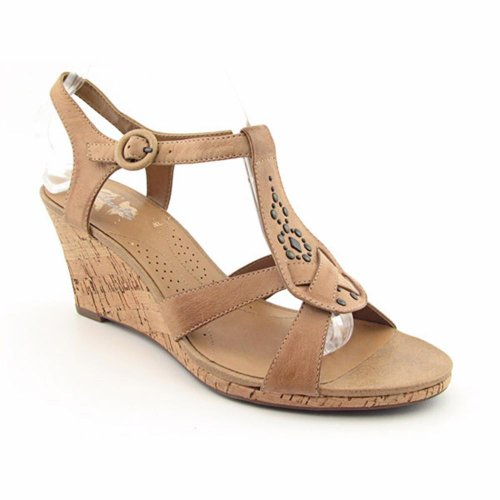 Clarks Miami Beach Wedges Platforms Sandals Shoes Beige Womens New/Display UK 8