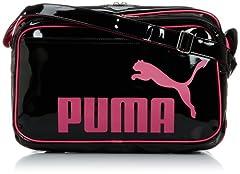 [プーマ] PUMA TS シャイニー タイプ A ショルダー L 072518 04 (ブラック/ブラック/ビートルート パープル)