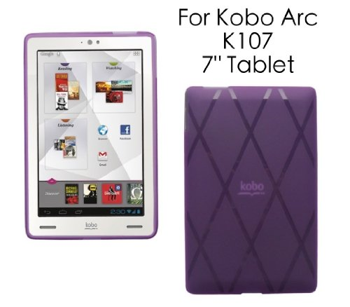 HappyZone Rubberized TPU Skin Case Cover For Kobo Arc K107 7 Inch eReader Tablet - Purple at Electronic-Readers.com
