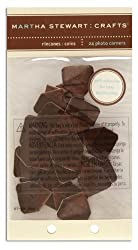 Martha Stewart Photo Corners Satin Brown By The Package