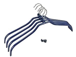 WENKO 10250911100 Formbügel-Set Multi 4+4 - Kleiderbügel rutschhemmend beschichtet, Bügelverbinder, dunkelblau