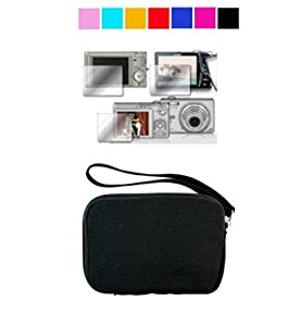 Mini Glove Camera Case for Canon PowerShot A495 A490 A3100IS A480 + Screen Protector (Khaki Revolt)