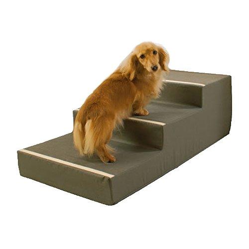やさしいステップ2 カーキ 3段 (犬 老犬 階段)